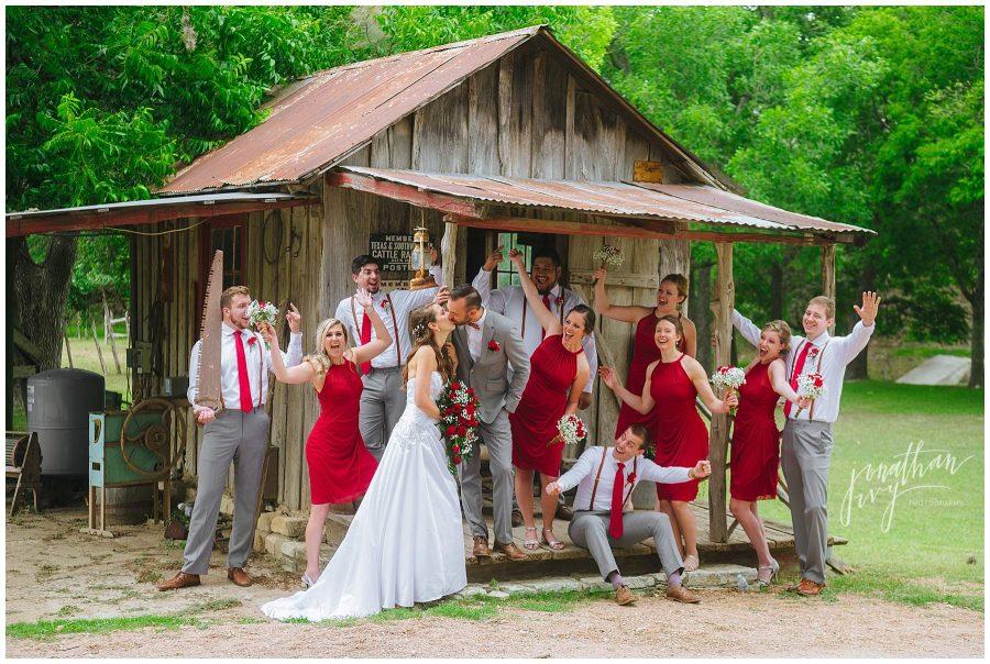 Don Strange Ranch wedding party photo