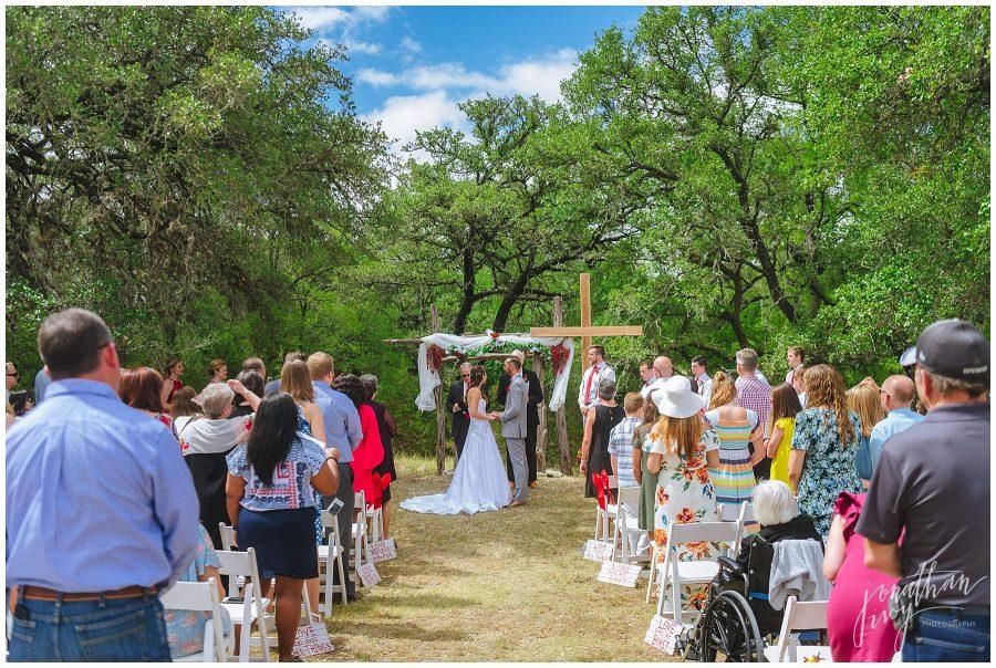 Outdoor wedding ceremony in San Antonio TX