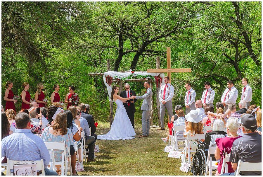 Outdoor ceremony in San Antonio Texas