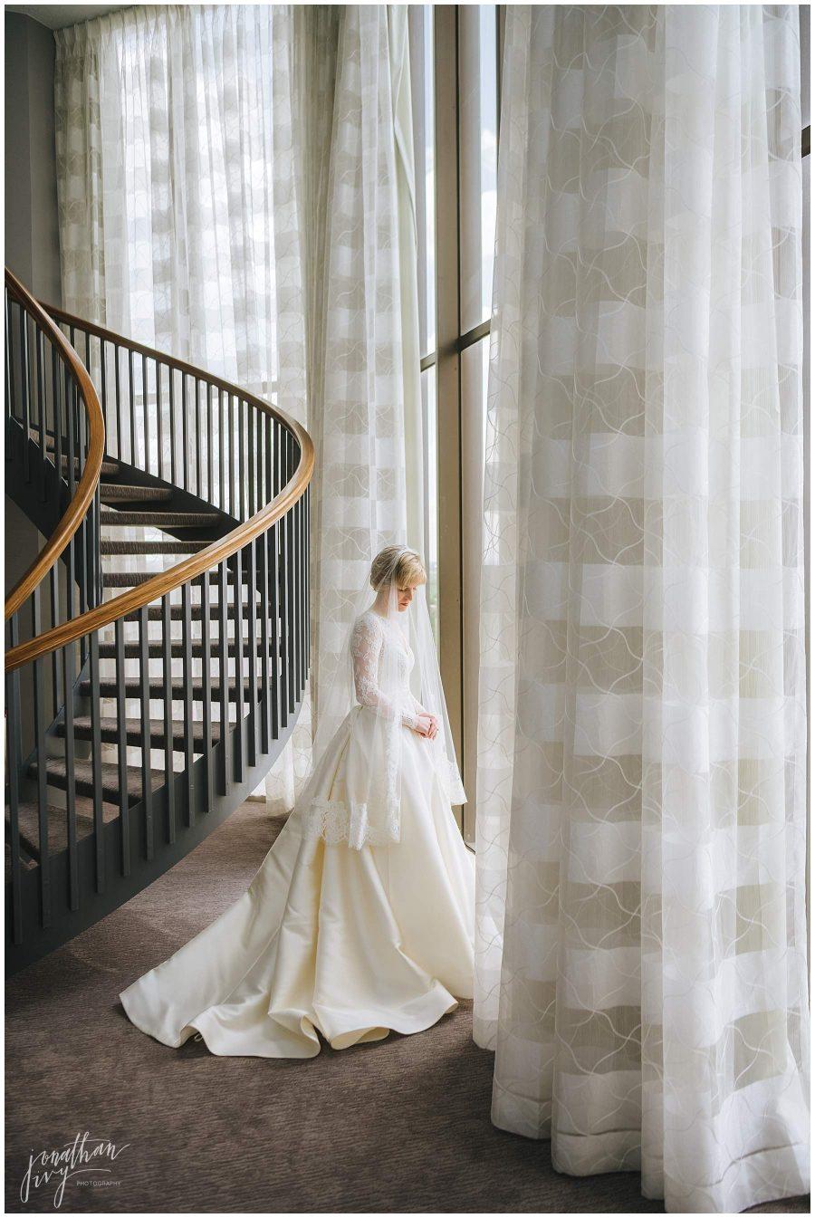 bridal session on wedding day