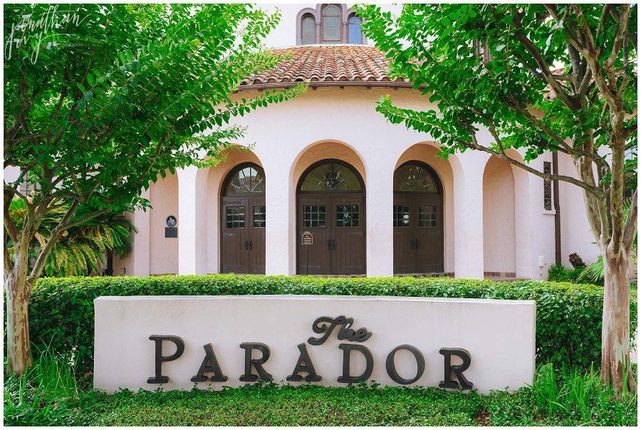 The parador wedding reception