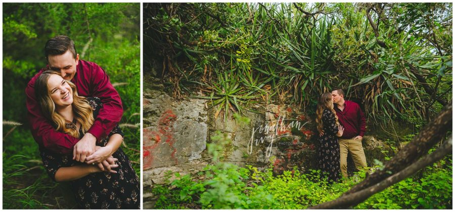 San Antonio Japanese Gardens Engagement Photos