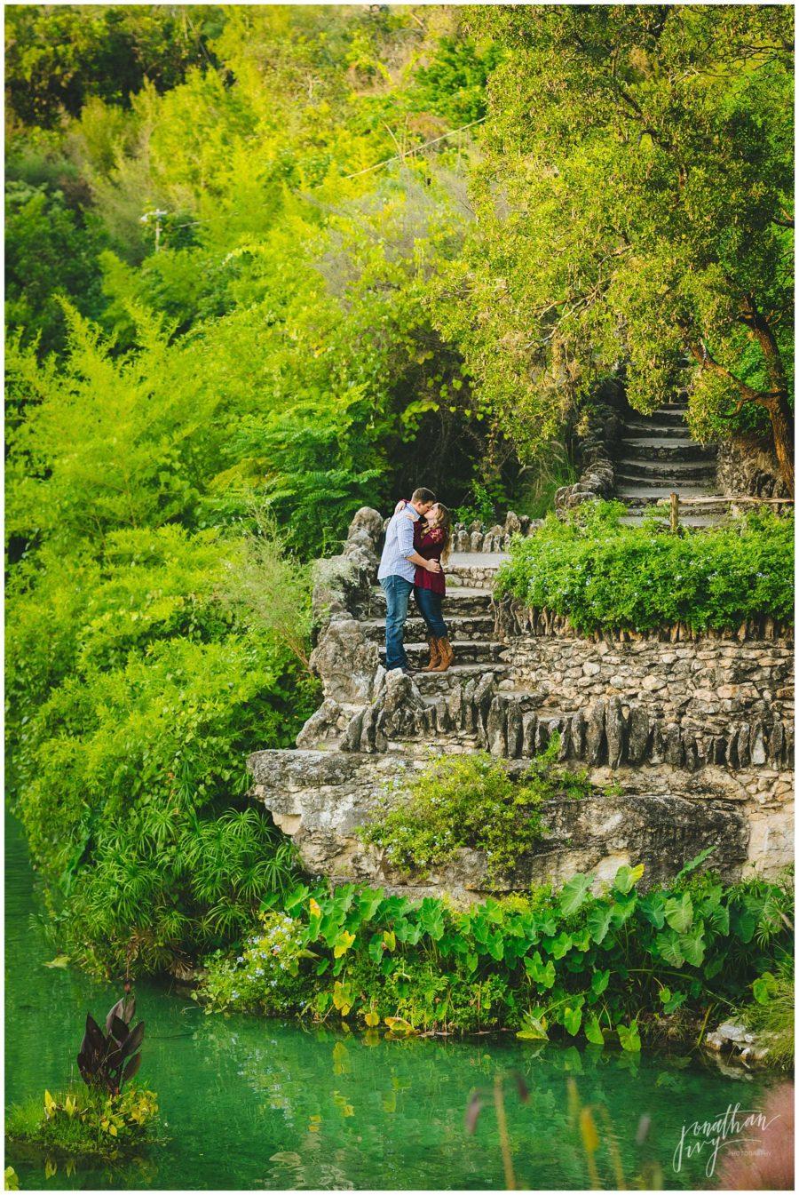 Japanese Gardens San Antonio Engagement Photos