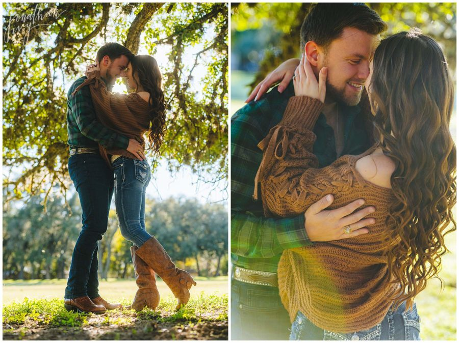 Country Western Engagement Photos