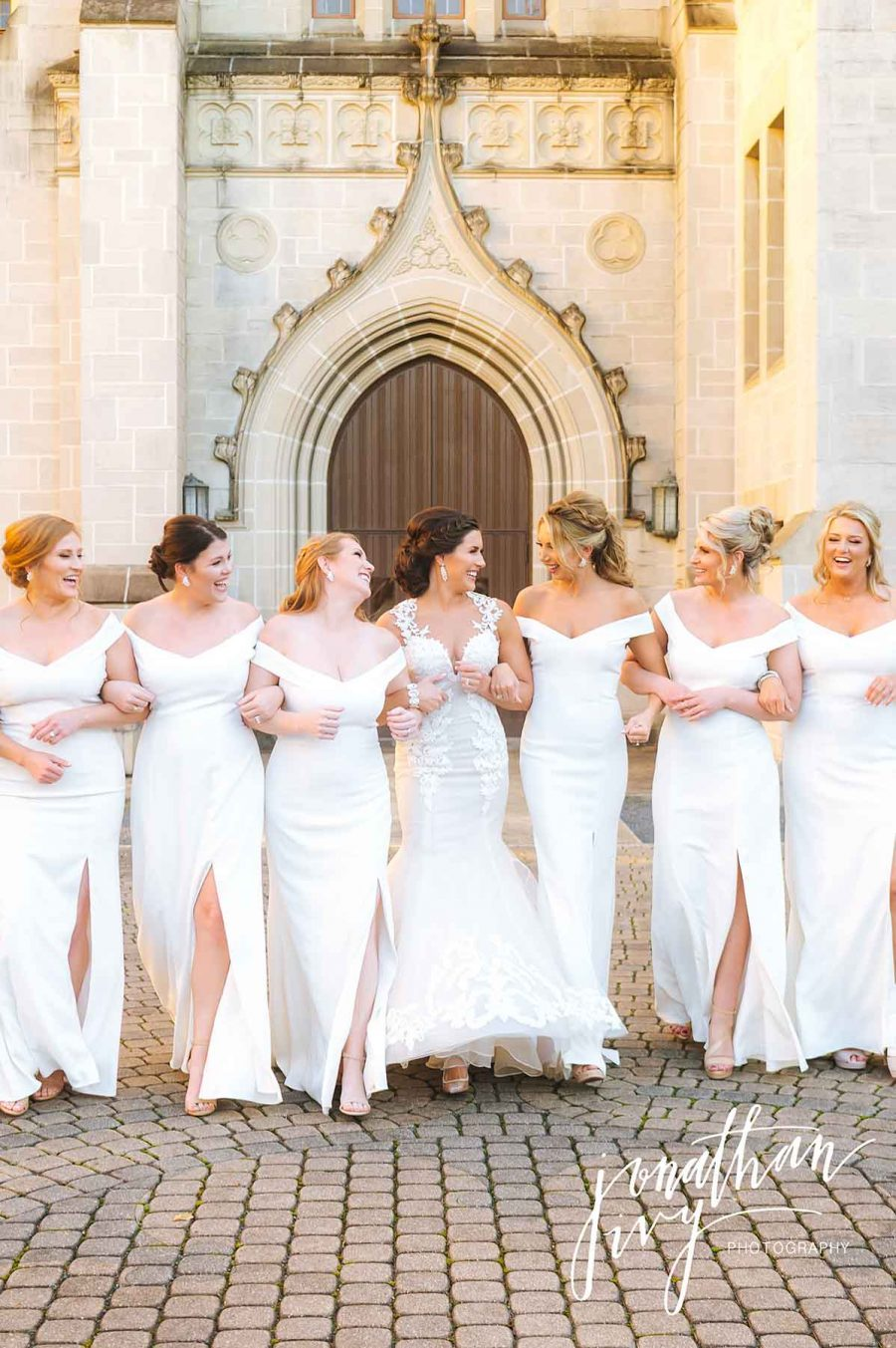 White Bridesmaids Dresses for Wedding