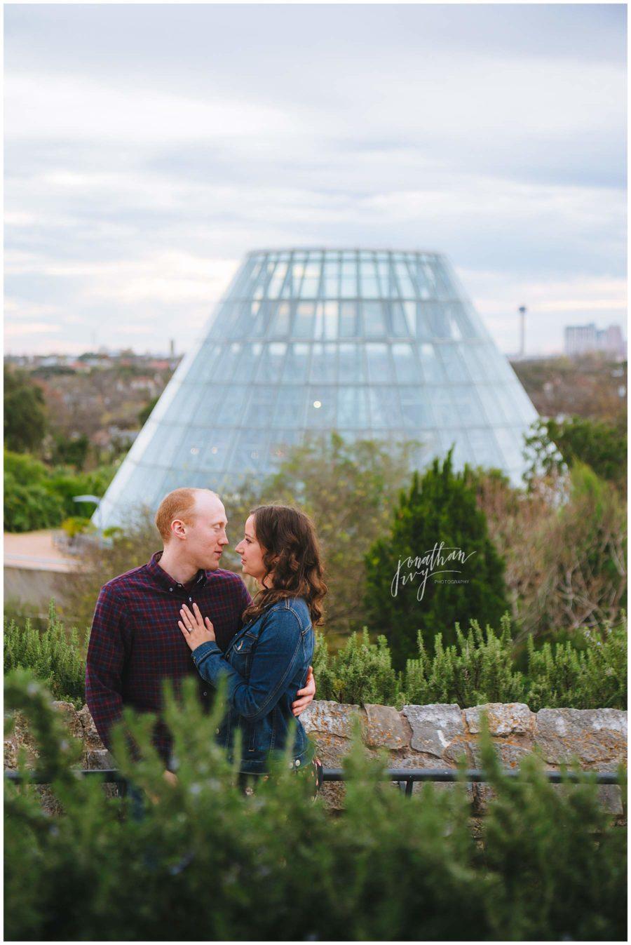 San Antonio Botanical Gardens Engagement Photos