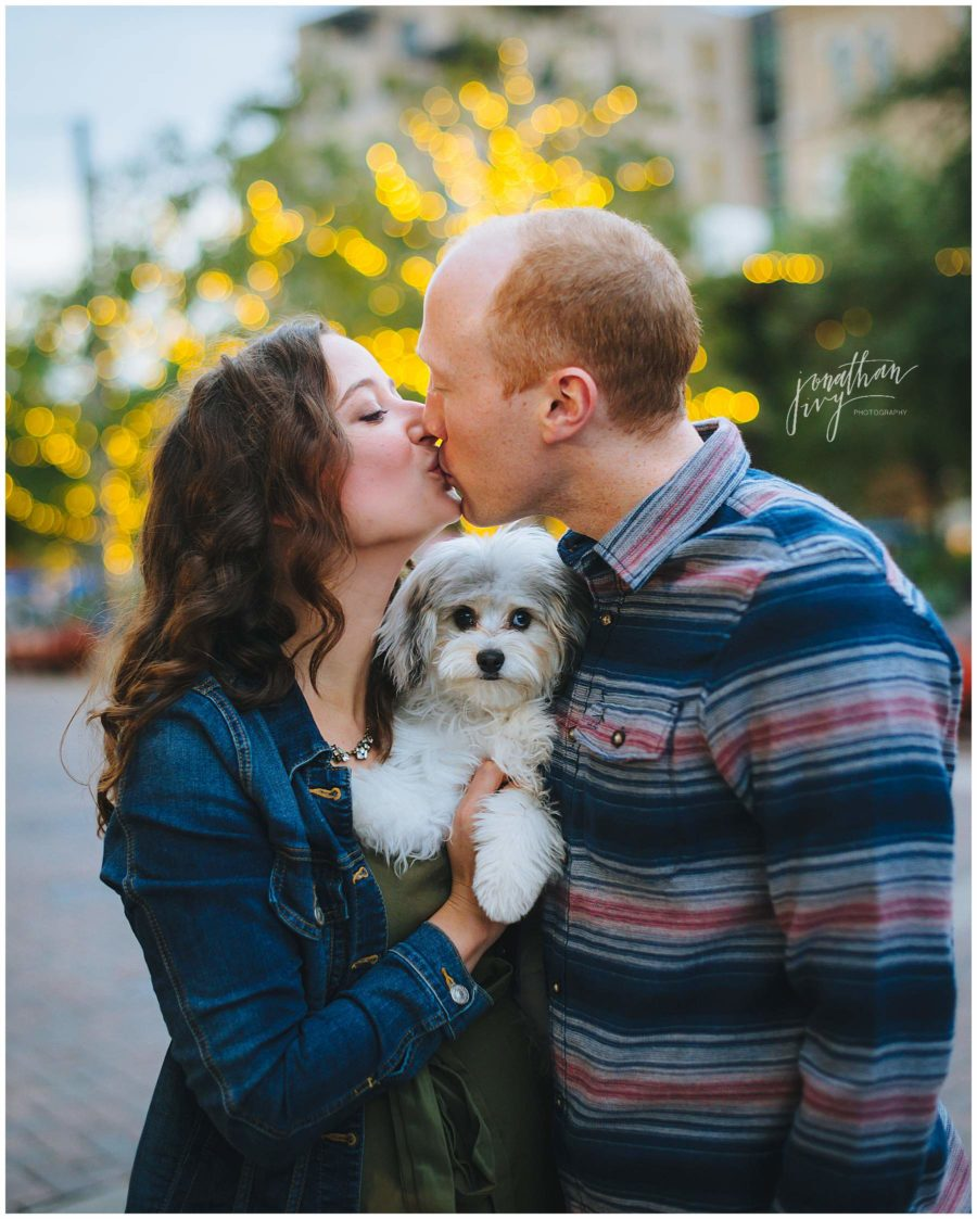 San Antonio Engagement Photos with dog