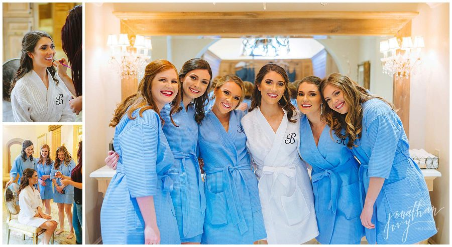 Bride & Bridesmaids getting ready at The Clubs at Houston Oaks