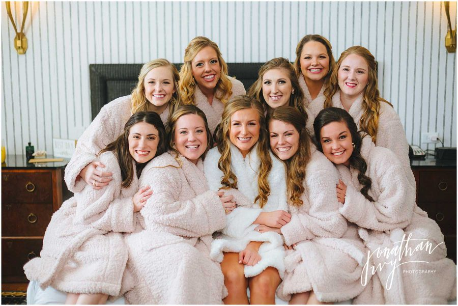 Matching Bride and Bridesmaid Plush Robes