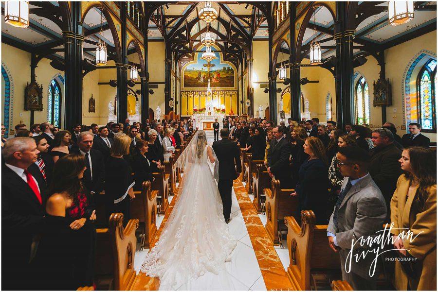 Wedding at St Mary's Basilica Galveston