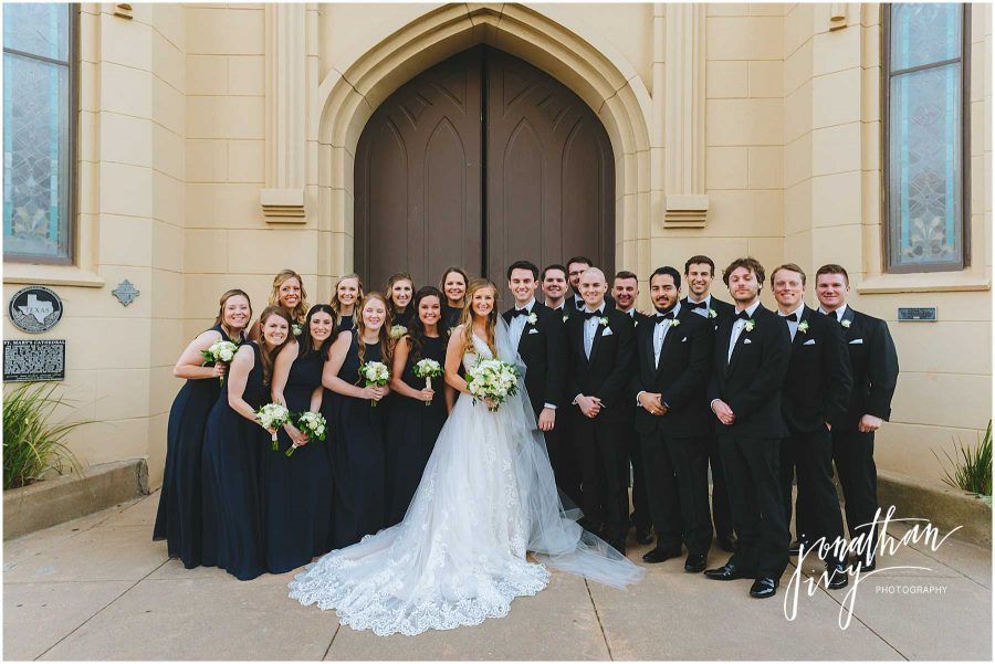 Wedding Party at St Mary's Basilica Galveston