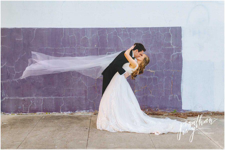 Galveston Bride and Groom Portraits
