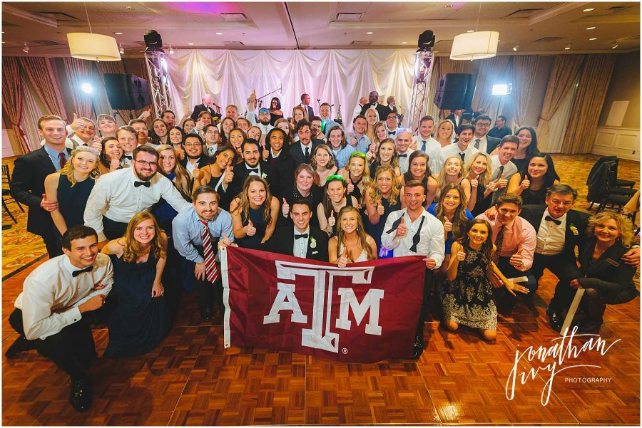 Aggie Group Photo at Wedding