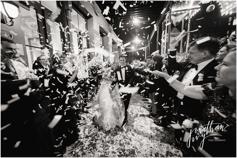 Confetti Flutterfetti Exit Tremont House Wedding