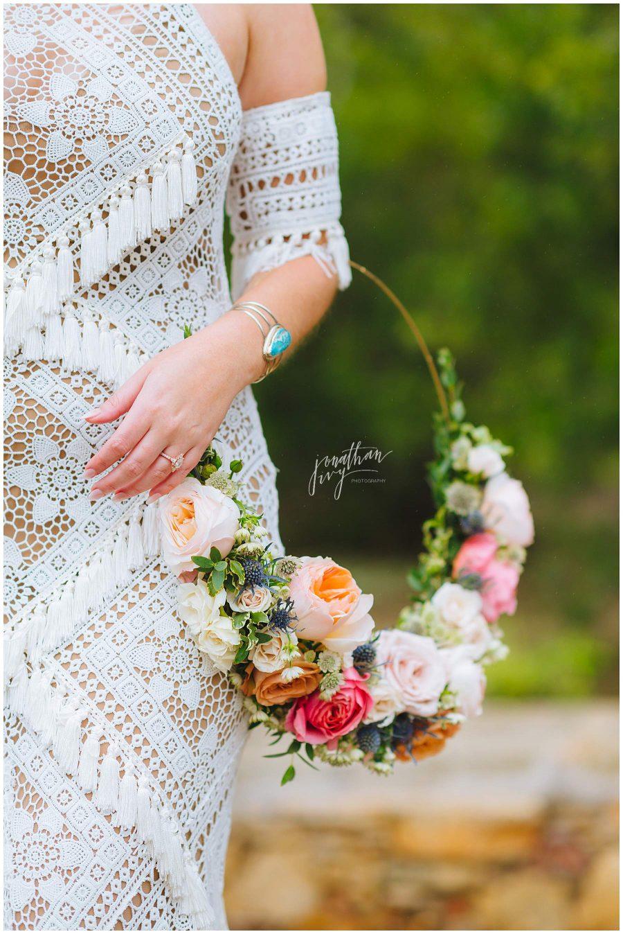 Floral Hoop Wedding