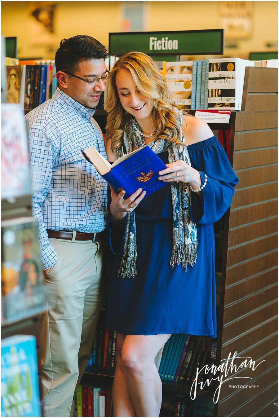 Barnes & Noble Engagement Photos