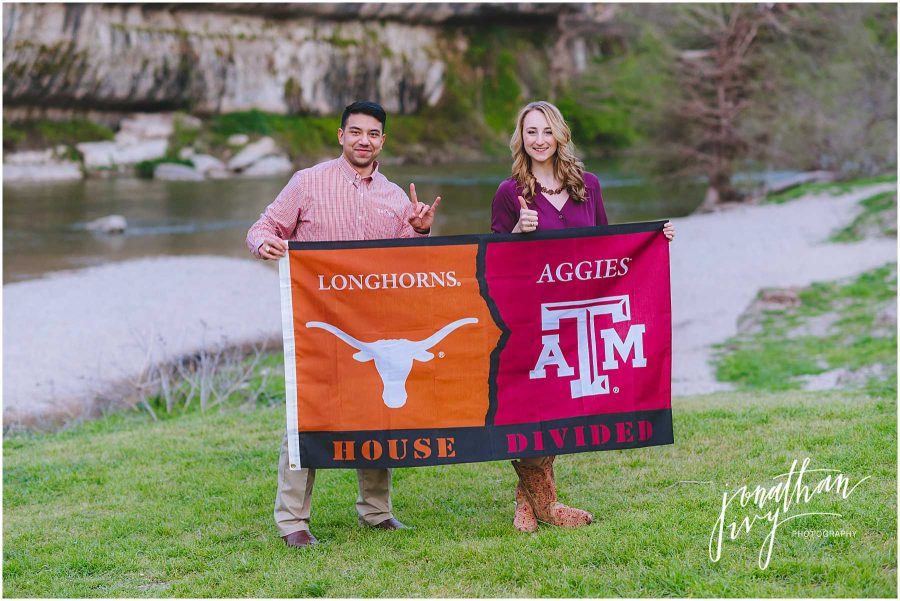 House Divided Engagement Photo Ideas