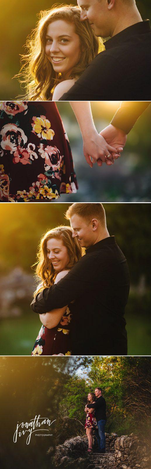 Gorgeous Sun Flare Engagement Photo Couple Poses Ideas
