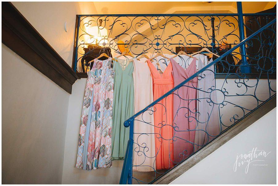 multi colored bridesmaid dresses