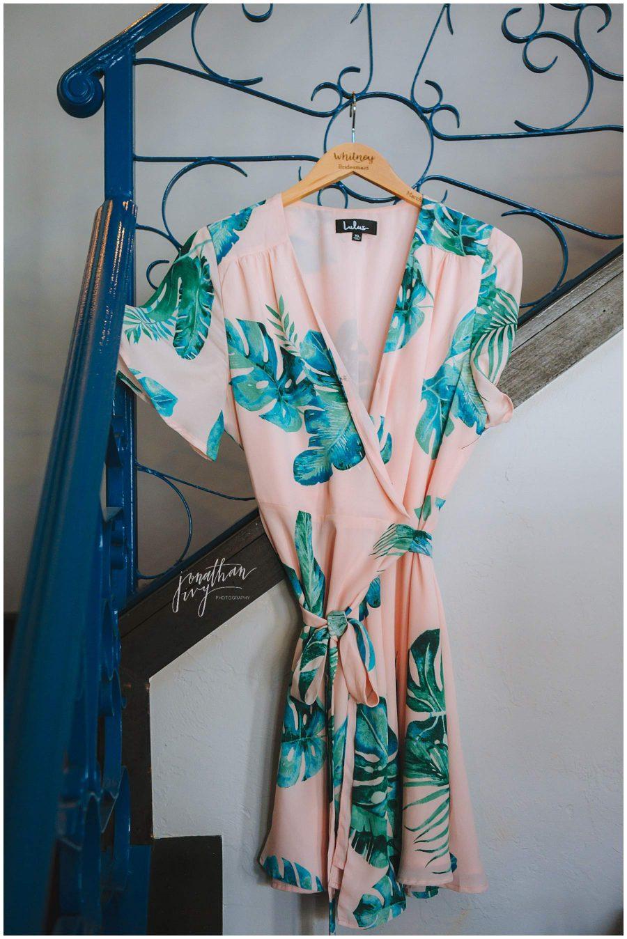 bridesmaid robe pink