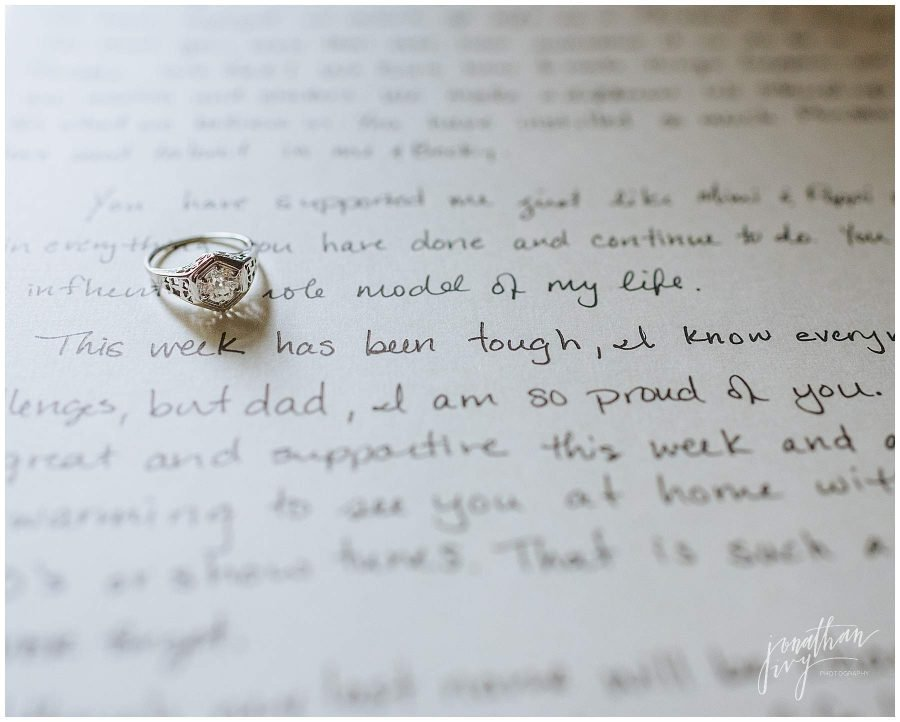 wedding day note
