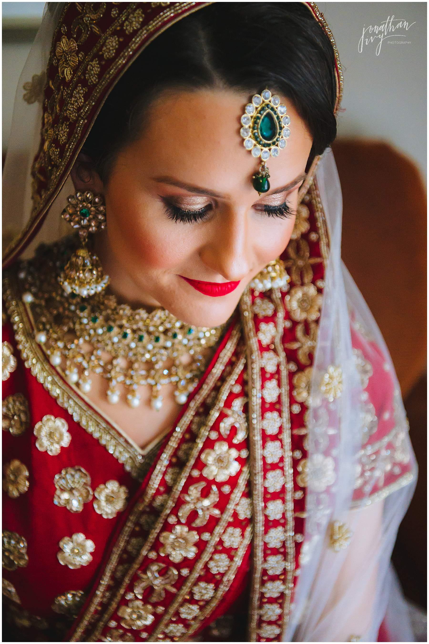 Caucasian Bride Hindu Wedding
